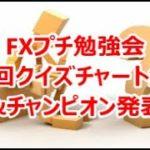 FXプチ勉強会 第4回クイズチャート解説&チャンピオン発表