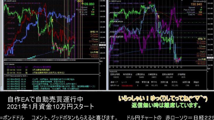 【FX】🍵MT4システムトレード自動売買🍵【EA】2021/0408