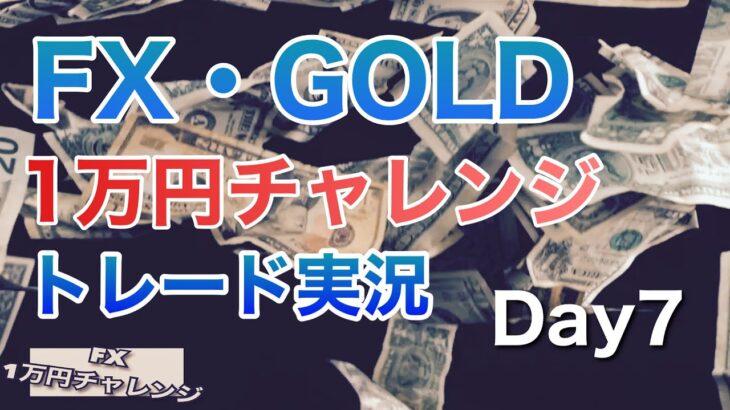 FX・GOLD トレード実況Day6 元手1万円チャレンジ