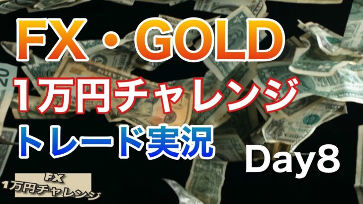 FX・ゴールド トレード実況Day8 元手1万円チャレンジ
