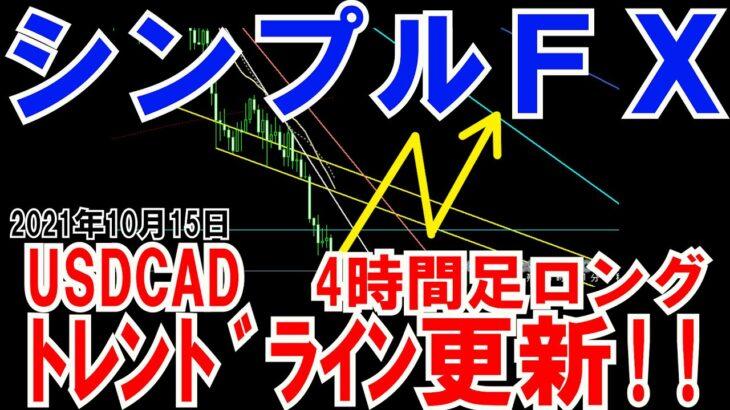 FX実況 本日の狙い目!!トレンドライン更新するよ!!USDCADシンプルFXスイングトレード